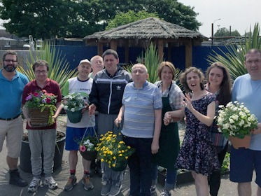 Bromborough Pool Garden Centre staff and service users