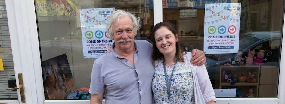 Autism Together charity shop staff - Rick Myers and Chloe Jones