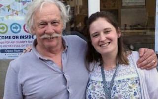 Charity shop staff - Rick Myers and Chloe Jones