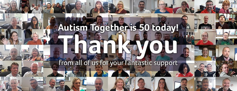 Autism Together is 50 today - thank you