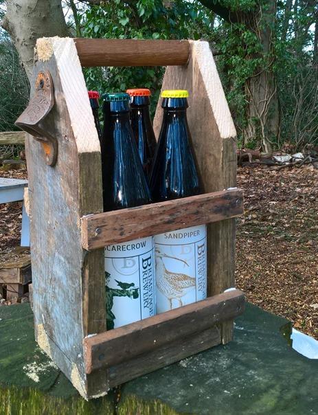Bespoke wooden beer caddies
