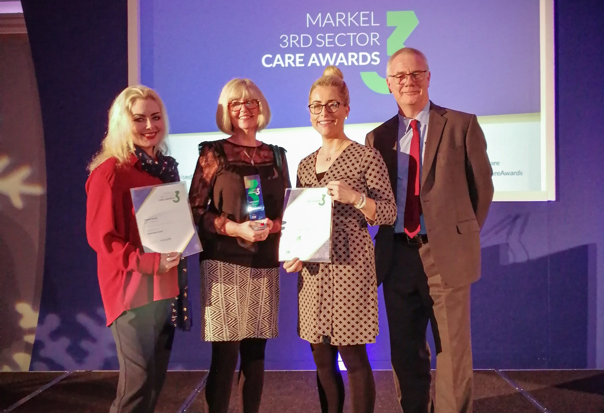 Winners of the 3rd Sector Care awards