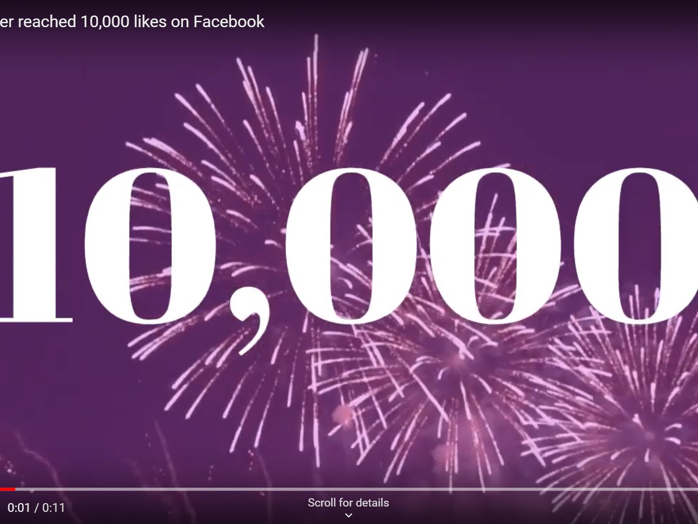 Facebook 10,000 likes reached