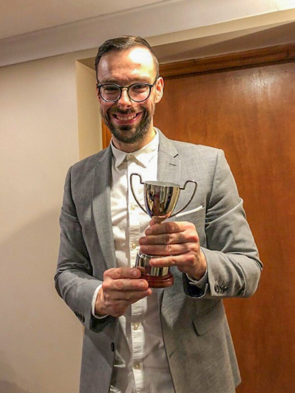 Andrew Edwards wins Champagne Moment cricket award