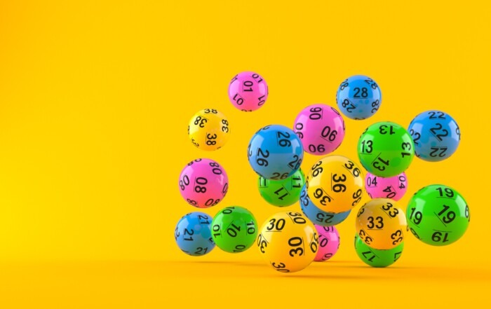 Lottery balls falling