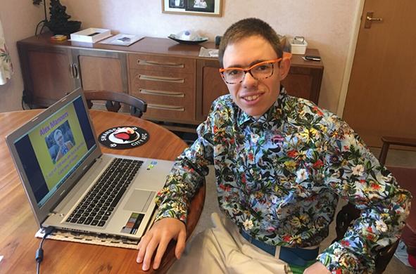 Alex Manners, autism blogger