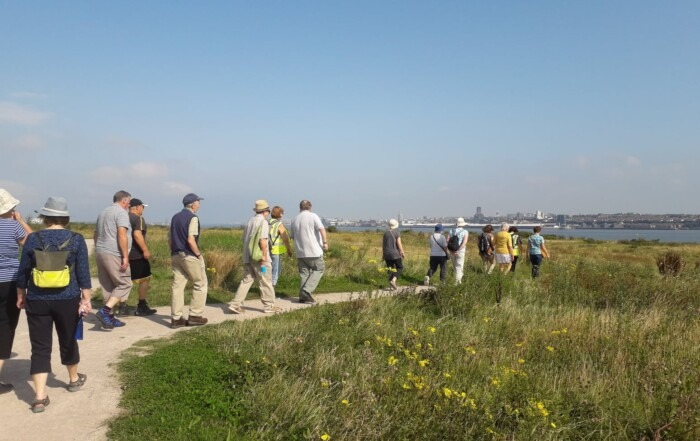 Walking group at Port Sunlight River Park