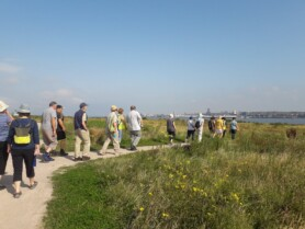 Walking group at Port Sunlight River Park