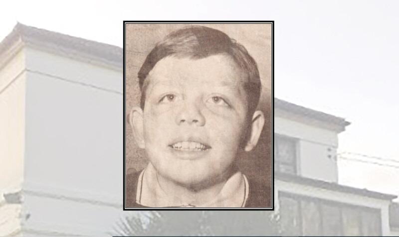 Shaun Brady as a child