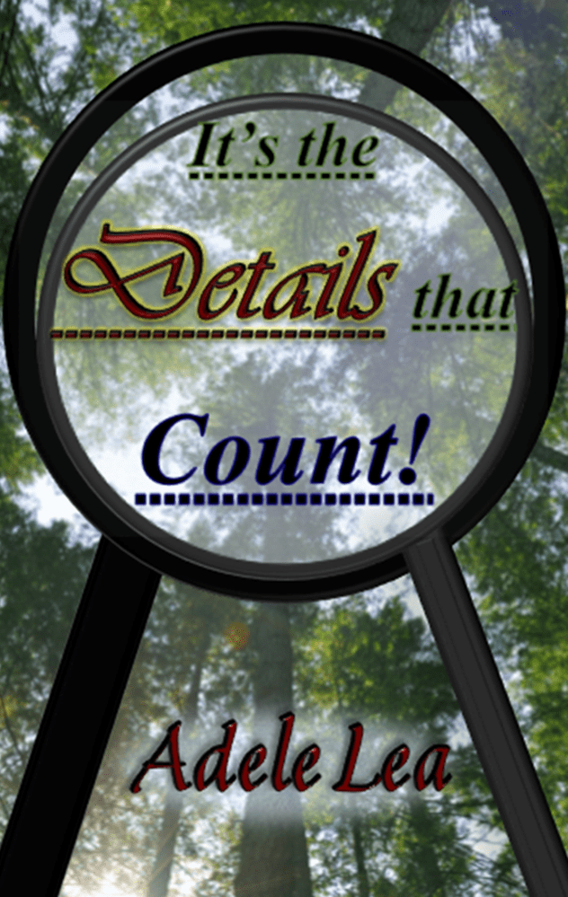 """Adele Lea's debut novel 'It's the Details that Count!"""""""
